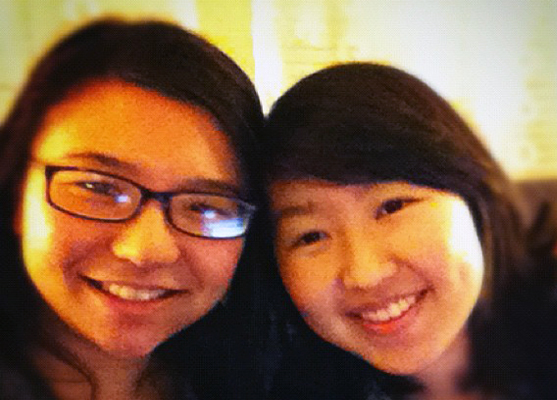 Janet Liang (R) with Friend