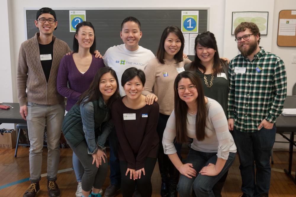 Cheekswab volunteers for the Hope Midtown bone marrow drive
