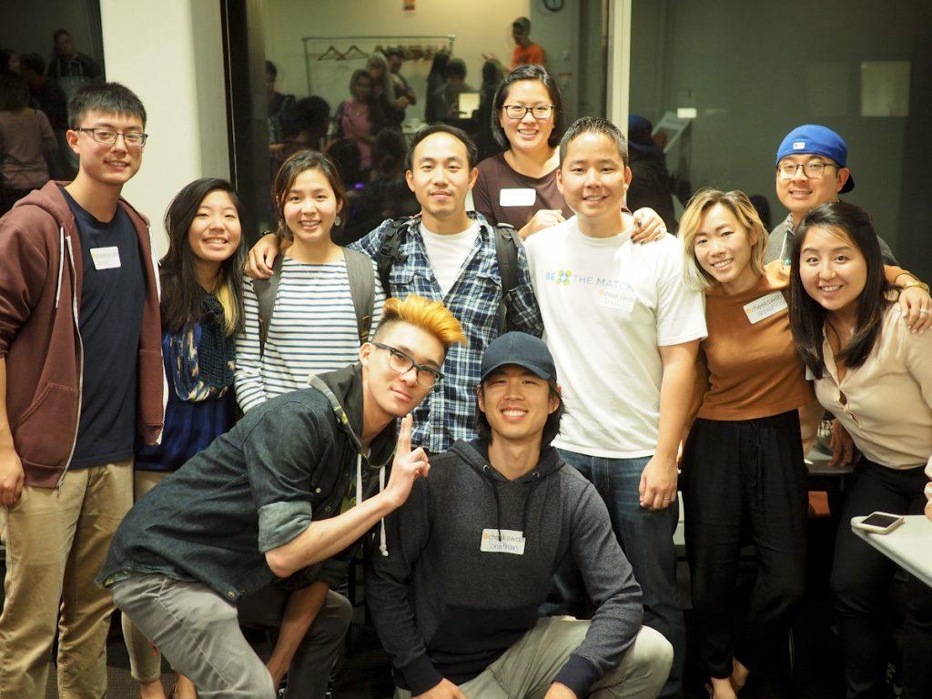Volunteers for the NYU AACF Cheekswab drive